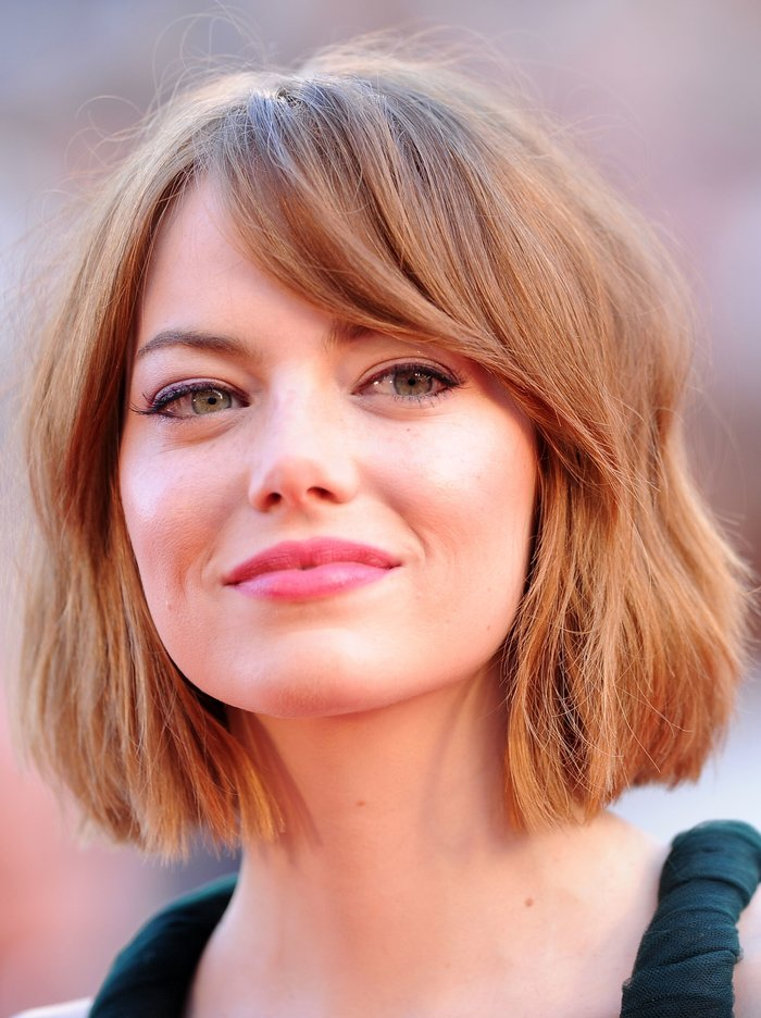 Emma Stone with a bob cut.