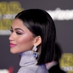 Zendaya Coleman with a sleek bob cut.