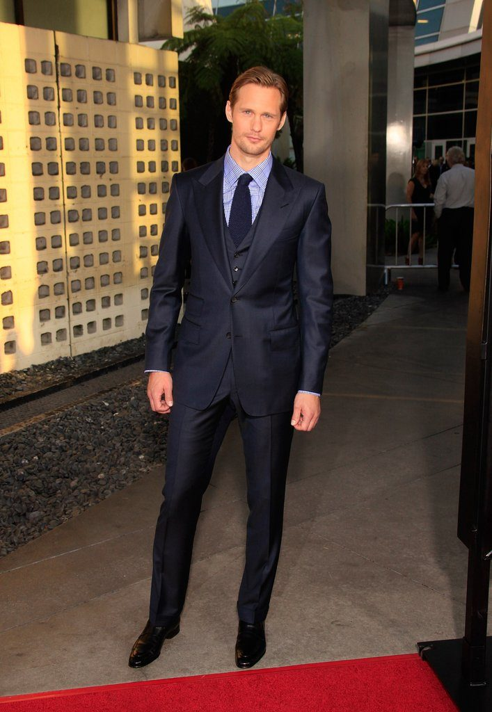 15. Alexander Skarsgard in dark blue suit