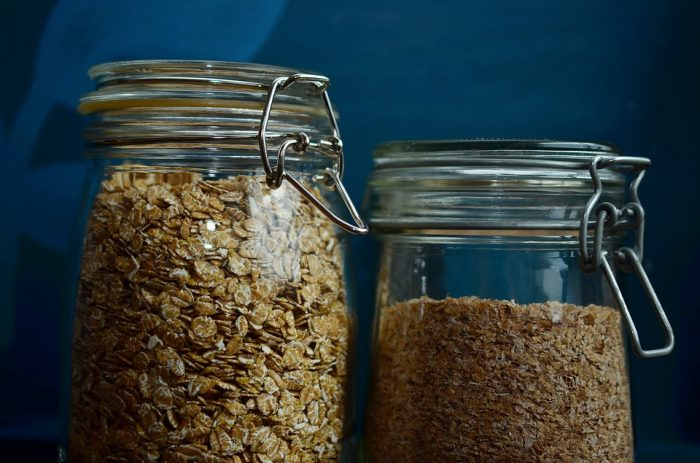 Jar Cereals Closure Glass Spelt Flakes Oatmeal