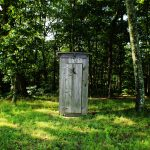 Portaloo in the woods