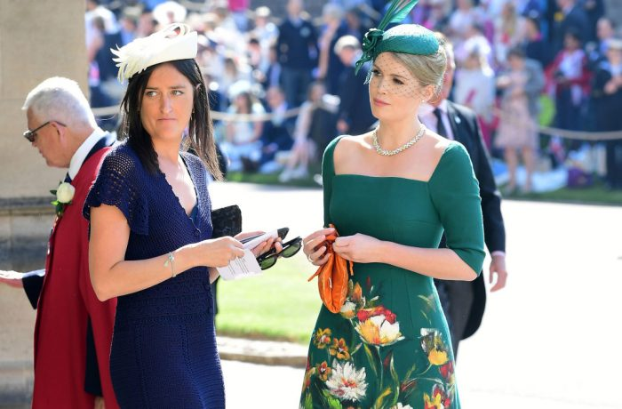 Lady Kitty Spencer arrives at St George's Chapel at Windsor Castle for the wedding of Meghan Markle and Prince Harry in Windsor, Britain, May 19, 2018. Ian West/Pool via REUTERS